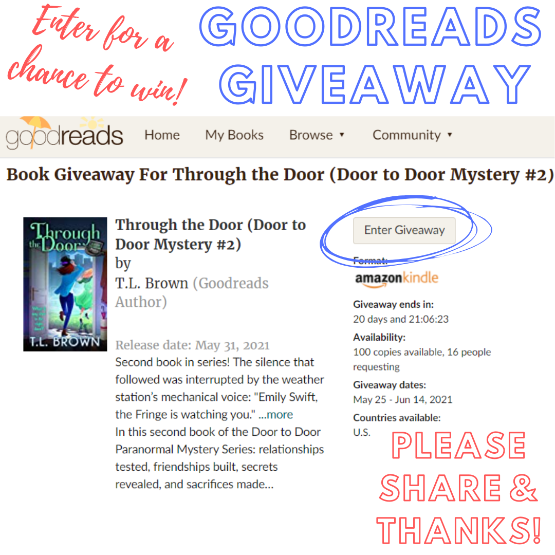 Goodreads Giveaway of Mystery Cozy Book