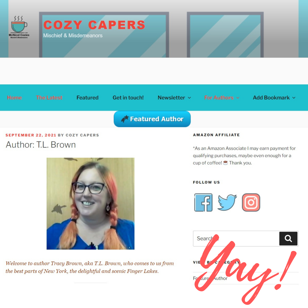 TL Brown Cozy Capers Featured Author