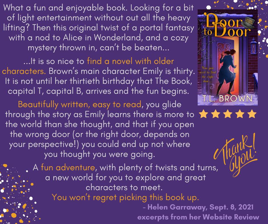 Excerpts from Helen Garraway's Review of Door to Door by TL Brown