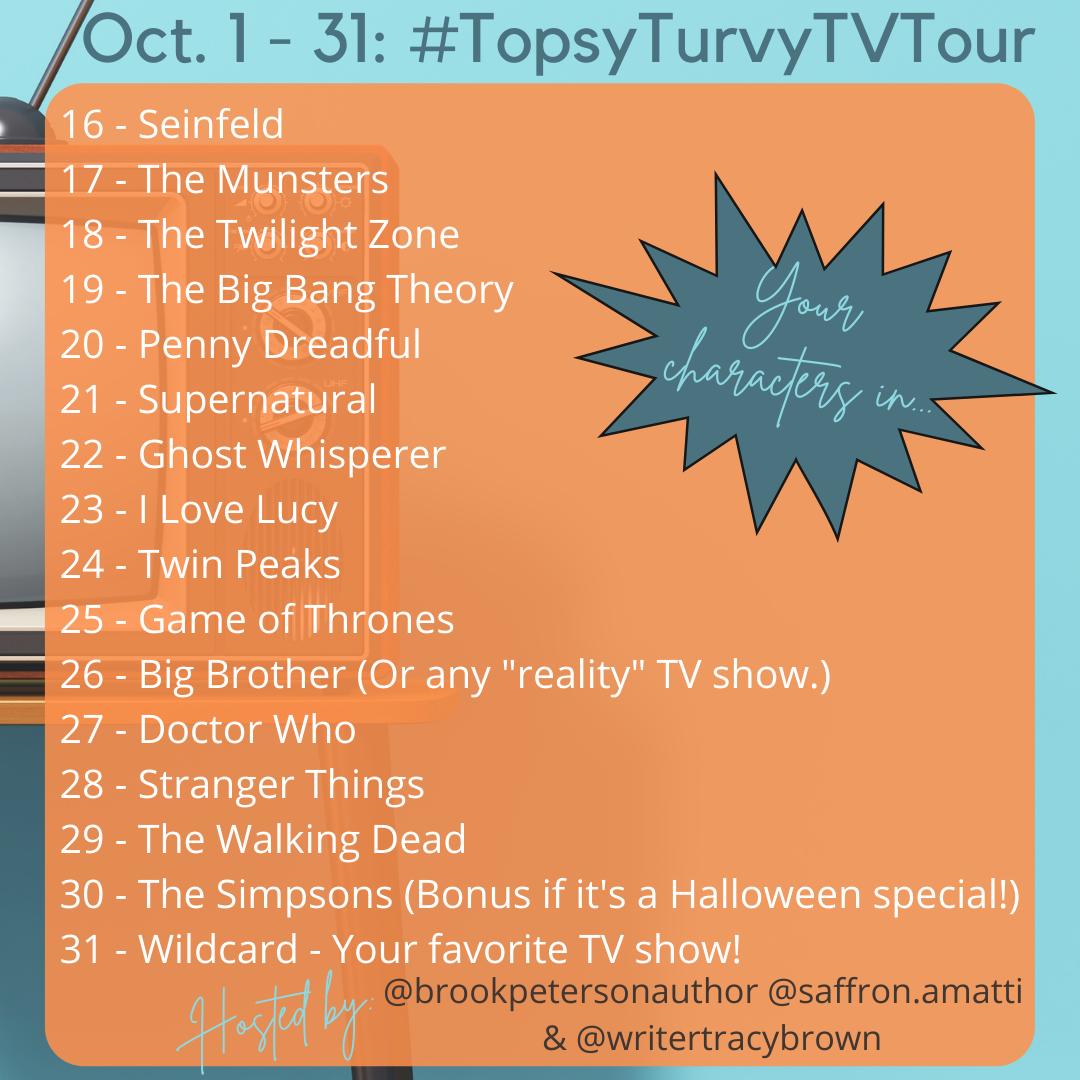 TopsyTurvyTVTour Prompts 16 through 31